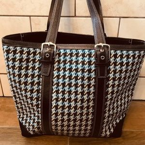 Cute Tweed Coach Tote Bag
